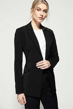 behind the design - The 'W' Edit by Witchery Kids Fashion, Womens Fashion, Work Wear, Kids Outfits, Blazer, Sleeves, How To Wear, Button, Jackets