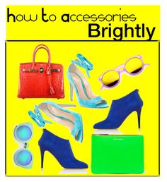 """Tricks And Tips On How To Accessories Brightly"" by blame-it-on-fashion-1 ❤ liked on Polyvore featuring Jimmy Choo, Hermès, Comme des Garçons, Gianvito Rossi, ZeroUV, tips, tricks and tipsandtricks"
