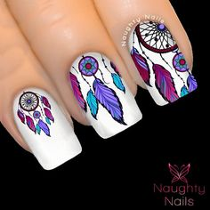 Enchanted DREAM CATCHER Feather Nail Water by NaughtyNailsShop