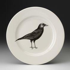 Laura Zindel Design - Dinner Plate: Crow, $50.00 (http://www.laurazindel.com/dinner-plate-crow/)