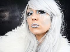 Winter witch Halloween makeup by Erica Gamby