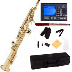 Mendini by Cecilio MSS-L+92D Gold Lacquer Straight B Flat Soprano Saxophone with Tuner, Case, Mouthpiece, 10 Reeds and More by Mendini, http://www.amazon.com/dp/B0050K85ZM/ref=cm_sw_r_pi_dp_x_xZxvzbKDJCPG1
