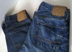 2 pairs of American Eagle Original Straight Leg Jeans sz 28 x 30 #AmericanEagleOutfitters #ClassicStraightLeg