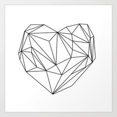 Buy Heart Graphic (black on white) Art Print by Mareike Böhmer Graphics. Worldwide shipping available at Society6.com. Just one of millions of high quality products available.
