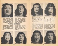 face exercises...my mother did these