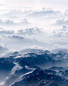 renamonkalou:  Mountains and clouds |  Lyudmila