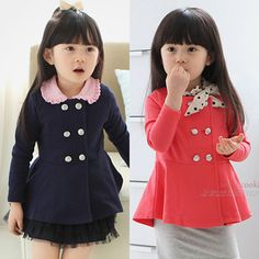 Aliexpress.com : Buy 2014 spring and autumn double breasted girls clothing baby child long sleeve outerwear top wt 0578 on Kids Fashion Clot...