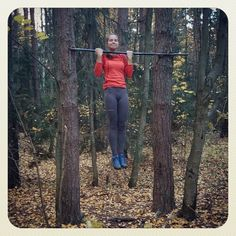 Осень. Лес. Воркаут) #sibworkout2 Конкурс от @rusdudnik Подтягивания, как способ самосовершенствования))