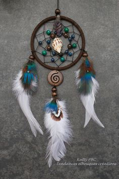 "Dream Catcher ""purple feathers"" Yugapi """