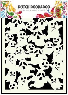 Dutch Doobadoo Dutch Mask Art stencil Spoken A5 470.715.044   Craft Emotions