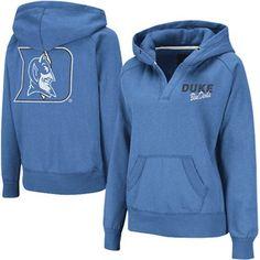 Duke Blue Devils Ladies Heritage V-Neck Hoodie Pullover - Duke Blue