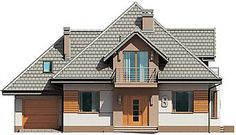 Projekt domu Śnieżka N 129,49 m2 - koszt budowy 220 tys. zł - EXTRADOM Home Fashion, House Plans, 1, Mansions, Architecture, House Styles, Villas, Home Decor, Houses