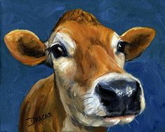 Sweet Jersey Cow Painting  - Sweet Jersey Cow Fine Art Print