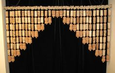 Wine Cork Window Swag-- I would make these hanging door beads.