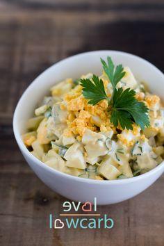Schneller Eiersalat mit Käse #ketogen #lowcarb #lchf #eggfast #eierfasten #primal
