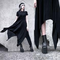 Make Me Chic Asymmetric Tshirt Dress, Unif Boyle Platform