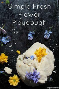 simple fresh flower playdough
