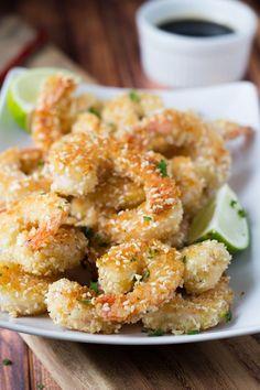 Crispy Sesame Panko Shrimp, tastes like tempura but without the deep-frying!