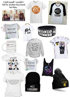 5 Seconds of summer merchandise.