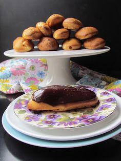 chantilly eclairs with salted caramel chocolate glaze http://hollyspantry.blogspot.ie/