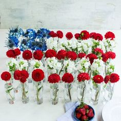 Fourth of July Decorations: Floral Flag Centerpiece