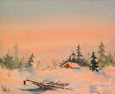 Creek Cabin by Teresa Ascone
