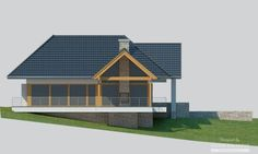House with attic in modern style with usable area House with a large garage. Minimum size of a plot needed for building a house is m. House Plans Mansion, Cottage Style House Plans, My House Plans, Bungalow House Design, Modern House Design, Ceramic Roof Tiles, 2 Storey House Design, Home Fashion, Ground Floor