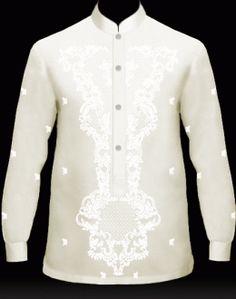 MyBarong : Men's Barong Tagalog Design it. Watch your Custom Tailor Barong come to life as you click & selec. Long Sleeve Undershirts, Barong Tagalog, Silk Organza, Fantasy Rpg, Collar Styles, White Long Sleeve, Dress Codes, Filipino, Shirt Sleeves