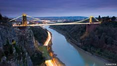 Clifton Suspension Bridge in Bristol, England.