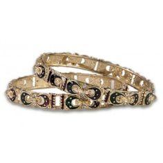Jewelry Galore - Crescent Moon Bangle Set - $35 #jewelry #fashion #moon #crescent #bangles