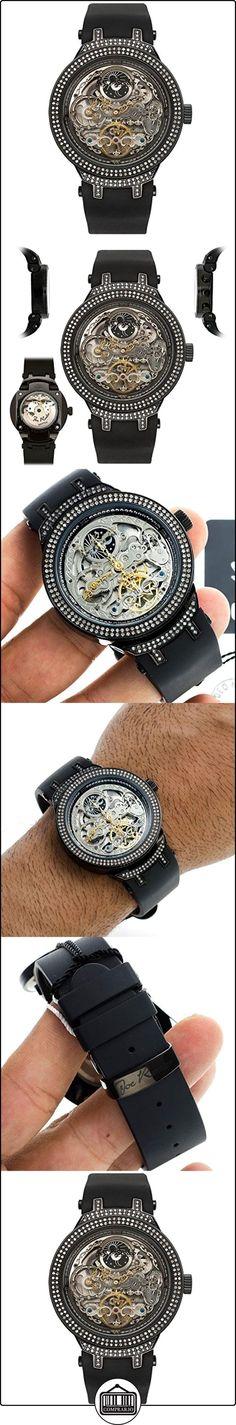 Joe Rodeo del diamante del reloj de los hombres de la - Maestro de color negro y 2,2 ctw  ✿ Relojes para hombre - (Lujo) ✿