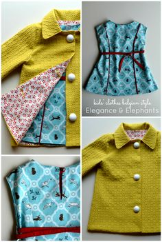 Elegance & Elephants: kid's clothing belgian style at Straightgrain  Modification of ruffle dress