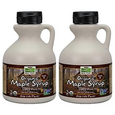 NOW Foods Organic Maple Syrup B Grade,  16 Ounce Bottle (Pack of 2) ** Discover this special product, click the image