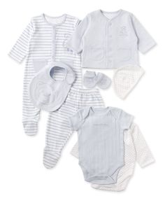 Mothercare Baby Boy Blue Bear 8 Piece Gift Set - gift sets - Mothercare