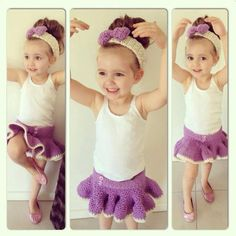 Toddler Ballerina Tutu and Head Band by KikkinKazKreations on Etsy, $35.00