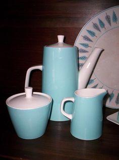 vintage dishware in tiki pattern