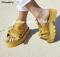 New Hot 2017 Women Rubber Bow Slide Sandals Chic Kartel Peep Toe Knot Platform Shoes Women Luxury Runway Mules Summer Slippers