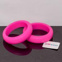 Hot pink sili-midi bangle #mamadoo #teethingjewellery #bangles