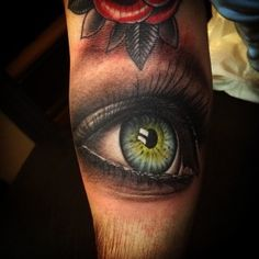 Unreal Realistic Eye tattoo on Arm