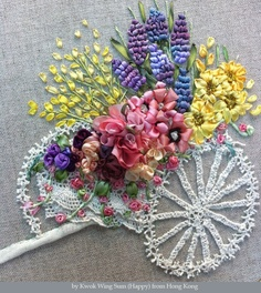 "See ""read my blog"" and look for Silk ribbon embroidery – a lovely flower cart for more close-up photos."