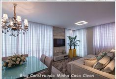 Construindo Minha Casa Clean: 21 Salas Integradas Pequenas Lindas! Veja como Decorar!