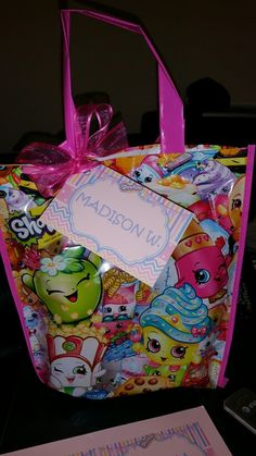 Shopkins favor bags with tags