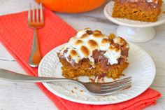 The BakerMama |  PUMPKIN S'MORES SNACK CAKE
