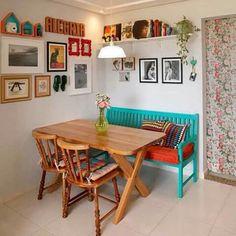 Cantinho boho kitchen, kitchen decor, kitchen ideas, indian home decor, s. Interior Design Living Room, Living Room Decor, Sweet Home, Diy Casa, Indian Home Decor, Home And Deco, Style At Home, Home Kitchens, Kitchen Decor