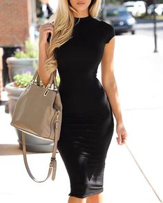 Women's Sexy Fashion Dresses Online Shoppifcang at pickmyboutique Bodycon Dress Formal, Bodycon Dress With Sleeves, Black Bodycon Dress, Formal Dresses, Curvy Fashion, Womens Fashion, Formal Fashion, Ladies Fashion, Online Dress Shopping