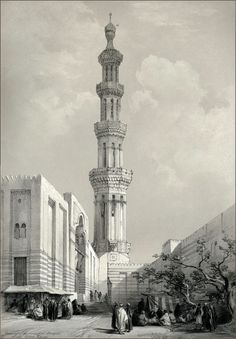 MINARET OF THE PRINCIPAL MOSQUE IN SIOUT, UPPER EGYPT.