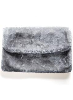 Shop Grey Faux Fur Clutch Bag online. Sheinside offers Grey Faux Fur Clutch Bag & more to fit your fashionable needs. Free Shipping Worldwide!