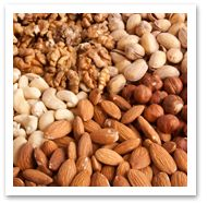 Three important  omega-3 fatty acids are DHA (docosahexaenoic acid), EPA (eicosapentaenoic acid)  and ALA (alpha-linolenic acid). DHA and  EPA are found in fish oils and ALA is found in nuts, flax seed and vegetable  oils.