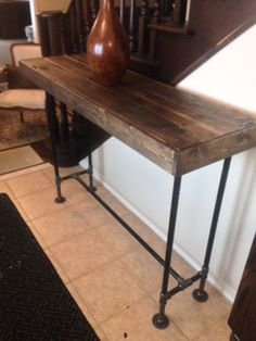 Custom Made Bar Top Table Condo Sized