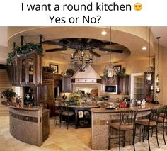 Round kitchen is awesome!